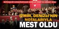 Denizlinin korolarından İzmirde muhteşem konser