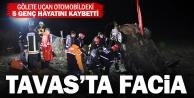 Gölete uçan otomobil 5 kişiye mezar oldu