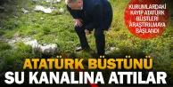Hayvan otlatan çobanlar, kurutma kanalında 'Atatürk' büstü buldu