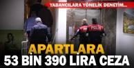 Nevruz öncesi apart denetimi: 53 bin 390 lira ceza