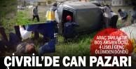 Çivril'deki kazada 3'ü lise öğrencisi 4 kişi yaralandı