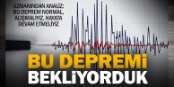 Prof.Dr. Kumsar: Bu depremler normal