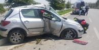 Askeri yoldaki kazada bir kişi yaralandı