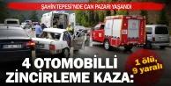 4 otomobilin karıştığı kazada 1 ölü, 9 yaralı