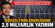 Bakan Zeybekci: Denizlinin enerjisine 2,5 milyar liralık yatırım yaptık