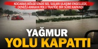 Denizli- Ankara karayolu sel nedeniyle trafiğe kapandı