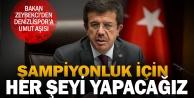 Denizlispor#039;a Bakan Zeybekci müjdesi