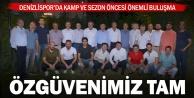Denizlispor#039;da yönetim ve teknik heyet buluştu