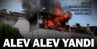 İki katlı evin çatısı alev alev yandı