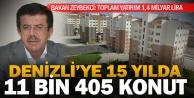 Zeybekci: 15 yılda 11 bin 405 konut yaptık