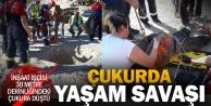 30 metrelik çukura düşen işçi yaralandı