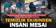 Sarayköy'ün temizlik ekibinden insani davranış