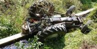 Traktör kanala uçtu 3 kişi yaralandı