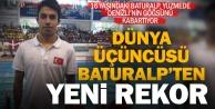 Yüzücü Baturalp#039;ten rekor üstüne rekor