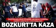 Bozkurt'taki kazada 1 kişi öldü, 4 kişi yaralandı
