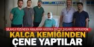 PAÜ hastanesi estetik cerrahları kalça kemiğinden çene yaptı