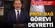 PAÜ Rektörü Prof.Dr. Bağ, görevi devretti