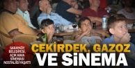 Sarayköy'de açık hava sineması nostaljisi