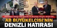 AB Büyükelçisi Bergerden Başkan Osman Zolana ziyaret