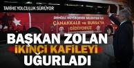 Başkan Osman Zolan, tarihe yolculukta ikinci kafileyi uğurladı