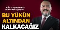 DEGİAD Başkanı Urhandan teşekkür