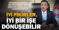 DTO Başkanı Uğur Erdoğandan, yenilikçi gençlere çağrı