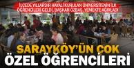Sarayköy'ün ilk üniversitelileri geldi