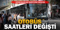 Şehir içi otobüs saatlerinde değişiklik