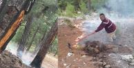 Yıldırım ormanı yaktı
