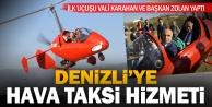 Hava taksi #039;gyrocopter#039; ile ilk turu Vali Karahan ve Başkan Zolan attı