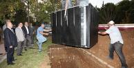 PAÜ yerleşkesine yer altı çöp konteynerleri