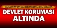 Vali Karahan: Kaledeki mağdur kız devlet koruması altında