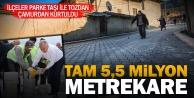 Büyükşehir#039;den 5,5 milyon metrekare kilit parke taşı