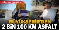 Büyükşehirden 2 bin 100 kilometre asfalt