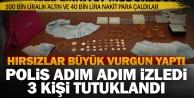 Sarayköy'de evden 140 bin lira ve altın çalan 3 hırsız tutuklandı