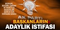 Ak Partide 4 başkanın adaylık istifası