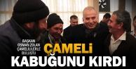 """Başkan Zolan, Çameli'ye gitti, """"Kabuğunu kırdı"""" dedi"""