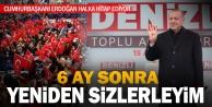 Cumhurbaşkanı Erdoğan, halka hitap ediyor