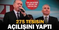 Cumhurbaşkanı Erdoğandan açılış yağmuru