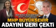 MHP büyükşehir adayını geri çekti, Ak Partiyi destekleyecek