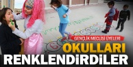 Okullar gençler ile renkleniyor