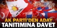 Ak Partinin ilçe adayları Pazar saat 14.00te açıklanacak