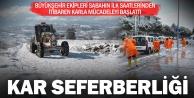 Büyükşehir#039;den karla mücadele