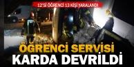 Midibüs devrildi: 12'si öğrenci 13 kişi yaralandı