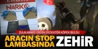 Aracın stop lambasına zulalanmış eroin yakalandı