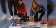 Çal'da curling heyecanı