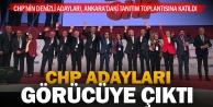 CHP Adayları Ankarada tanıtım toplantısına katıldı