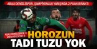 Abalı Denizlispor, şampiyonluk yarışında 2 puan bıraktı