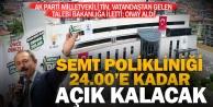 Dokuzkavaklar Semt Polikliniği saat 24:00'e kadar hizmet verecek