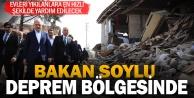 İçişleri Bakanı Soylu, Acıpayam'da deprem bölgesinde